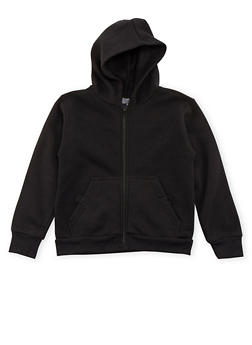 Boys 4-7 Fleece Heathered Hoodie with Pockets - 3732054730001