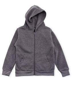 Boys 4-7 Fleece Heathered Hoodie with Pockets - 3732054730001