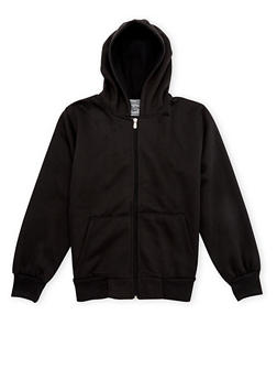Boys 8-20 Fleece Hoodie with Zip Front - 3733049020001
