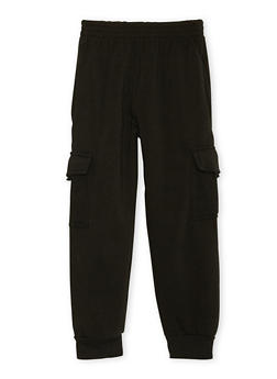 Boys 8-18 Fleece Sweatpants with Cargo Pockets - 3733054730004