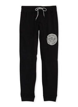 Boys 8-20 Heathered Joggers with NY Athletic Dept Print - 3733071950002