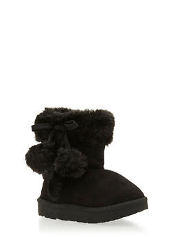 Girls Boots with Faux Shearling Paneling - 3736057260019