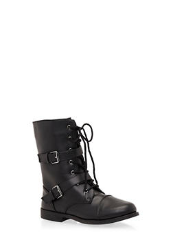 Girls Boots with Dual Buckle Straps - 3736061120020