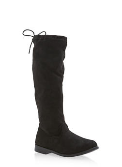 Girls 10-4 Faux Suede Stretch Boots - 3736061120053