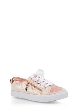 Girls 12-4 Size Zip Lace Up Sneakers - 3736062720003