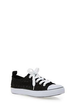 Girls 12-4 Crochet Lace Up Sneaker - 3736062720006