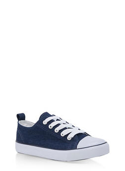 Girls 12-4 Lace Up Canvas Sneakers - 3736062720008