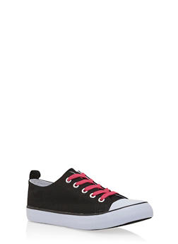 Girls Low-Top Sneakers with Cap Toes - 3736062720031