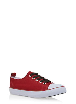 Girls Low-Top Sneakers with Cap Toes - 3736062720032