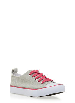 Girls 12-4 Low-Top Knit Sneakers - 3736062720033