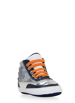 Baby Boy High-Top Sneakers with Ribbed Counters - 3736065690027