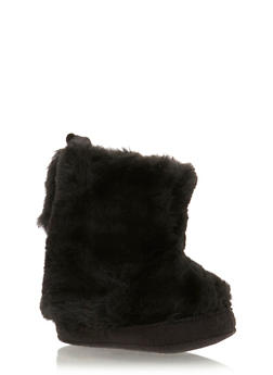 Baby Girl Faux Fur Booties - 3736065690108