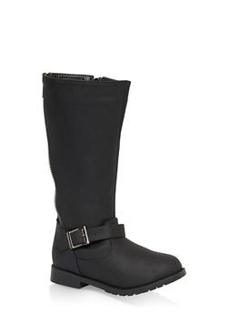 Girls 11-5 Zip Back Tall Boots - 3736068060076