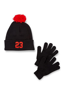 Boys Hat and Gloves Set with 23 Design - 3737041650002