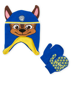 Boys Paw Patrol Beanie Hat and Mittens Set - 3737067500034