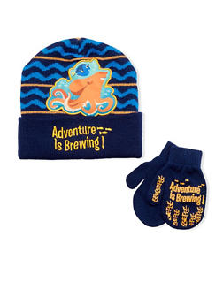 Boys Finding Dory Hat and Mittens Set - 3737067500036