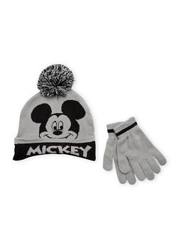 Boys Mickey Mouse Hat and Gloves Set - 3737067500050
