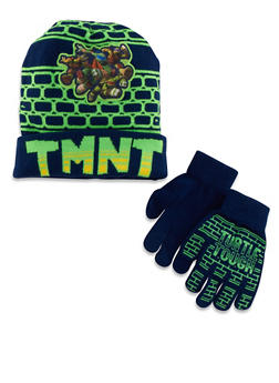 Teenage Mutant Ninja Turtles Hat and Gloves Set - 3737067500052