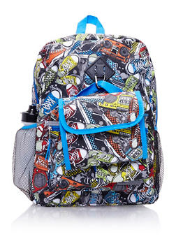 5-Piece Printed Backpack Set - 3742038480206