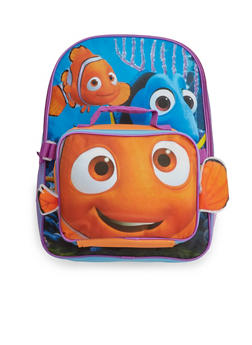 Finding Dory Backpack with Detachable Lunch Box Set - 3742052990335