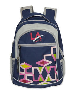 LA Gear Backpack with Geo Print - NAVY - 3742070260035