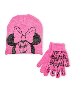 Girls Minnie Mouse Hat and Gloves Set - 3743067500001