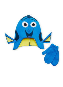 Girls Finding Dory Hat and Mittens Set - 3743067500005