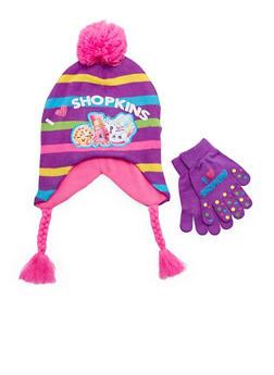 Girls Shopkins Hat and Gloves Set - 3743067500026