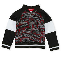 Boys 4-7 Bomber Jacket with Printed Mesh Detail - 3778073451020