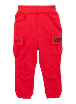 Boys 4-7 Asphalt Fleece Cargo Joggers - 3778073451028