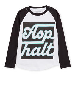 Boys 4-7 Asphalt Long Sleeve Graphic Top - 3778073451400