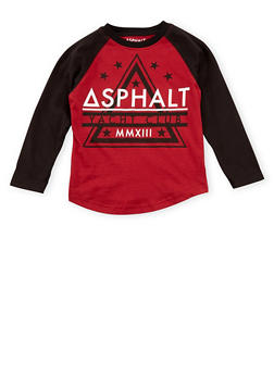 Boys 4-7 Asphalt Graphic Top with Raglan Sleeves - 3778073451402