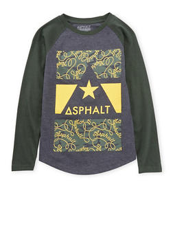 Boys 4-7 Asphalt Graphic Top with Raglan Sleeves - 3778073451403