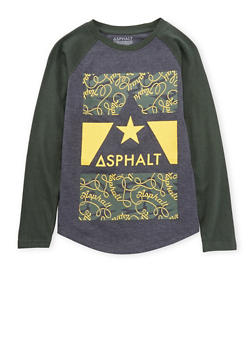 Boys 4-7 Asphalt Graphic Top with Raglan Sleeves - 3778073451404