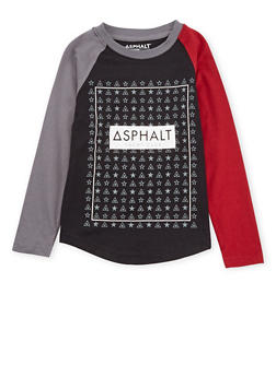 Boys 4-7 Asphalt Long Sleeve Graphic Top - 3778073451405