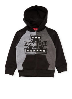 Boys 4-7 Zip-Up Hoodie with Asphalt Graphic - 3778073451502