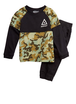 Boys 4-7x Camo Top and Joggers Set - 3778073452017