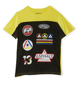 Boys 8-20 Color Block T-Shirt with Varsity Graphics - 3779073451005