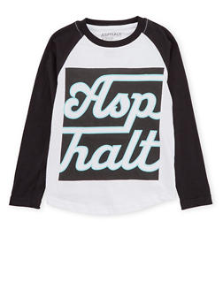 Boys 8-20 Asphalt Long Sleeve Graphic Top - 3779073451400