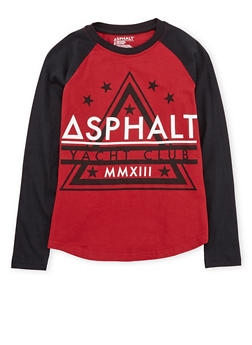 Boys 8-20 Asphalt Long Sleeve Graphic Top - 3779073451402