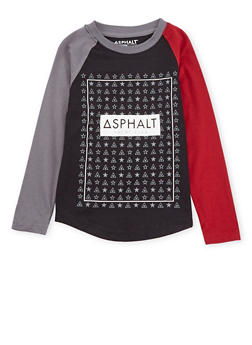 Boys 8-20 Asphalt Long Sleeve Graphic Top - 3779073451405