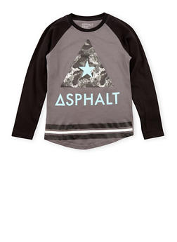 Boys 8-20 Asphalt Graphic Top with Long Sleeves - 3779073451406