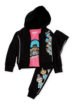 Girls 4-6x Trukfit Graphic Sweatsuit Set - 3780073452107