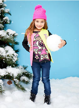 Girls 4-6x Trukfit Vest with Graphic Top and Jeans Set - 3780073452112