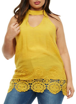 Plus Size Keyhole Peasant Top - MUSTARD - 3803056122937