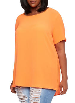 Plus Size Tunic Top with Back Seam - 3803058931014