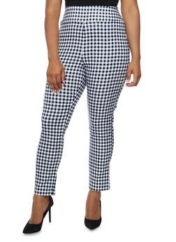 Plus Size Printed Stretch Pants - 3816062416473