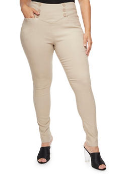 Plus Size High Wide Waisted Pants - 3861038347290