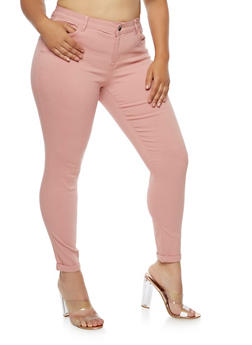 Plus Size Push Up Stretch Jeans - 3861060584906