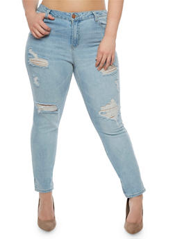 Plus Size Almost Famous Medium Wash Skinny Jeans - 3870015991212